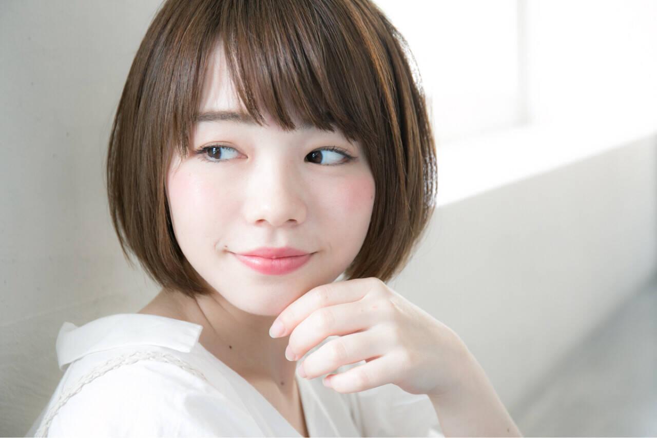 色気 斜め前髪 リラックス 大人かわいいヘアスタイルや髪型の写真・画像