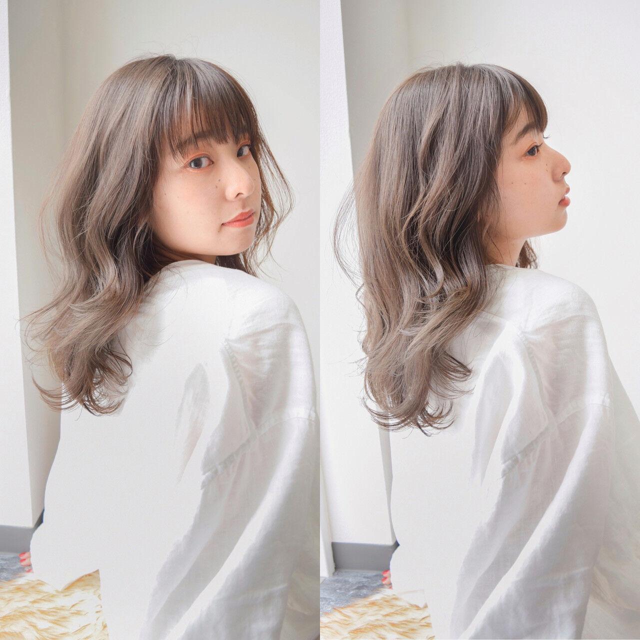 透明感カラー アンニュイほつれヘア 外国人風カラー インナーカラーヘアスタイルや髪型の写真・画像