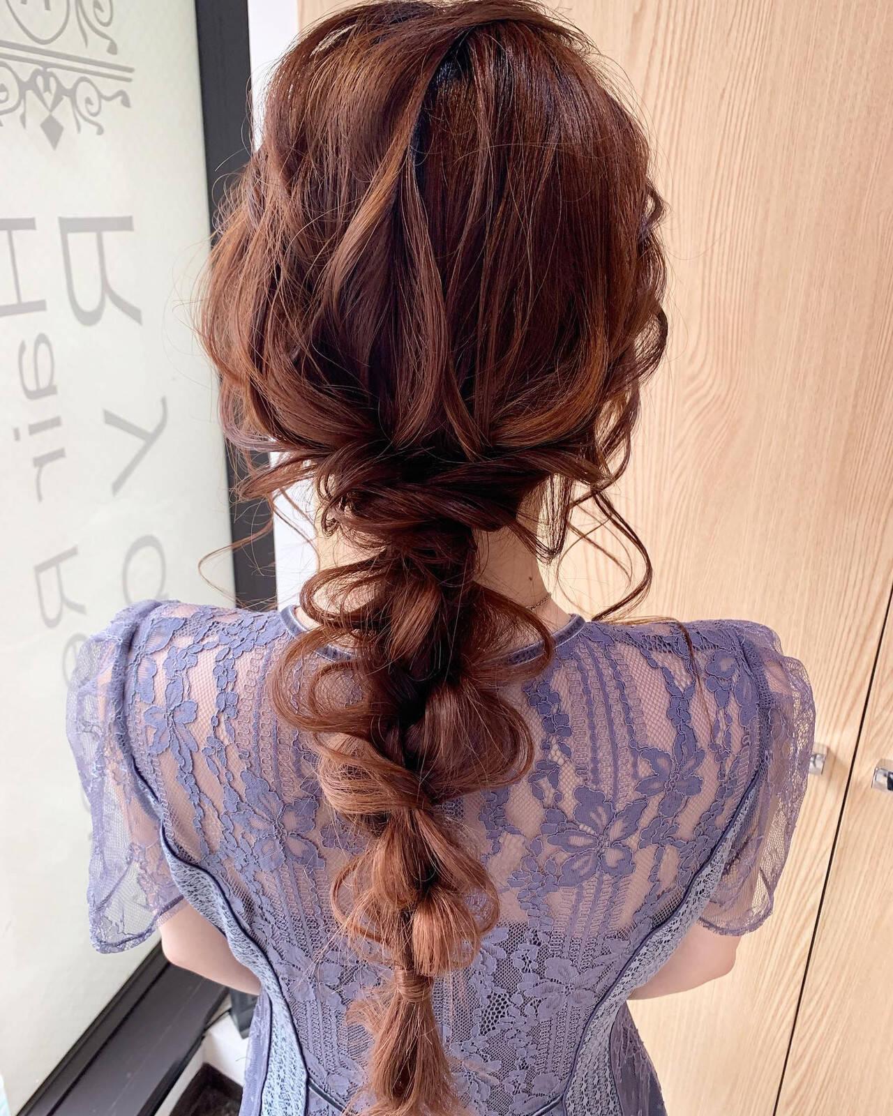 ナチュラル ロング お呼ばれヘア ヘアアレンジヘアスタイルや髪型の写真・画像