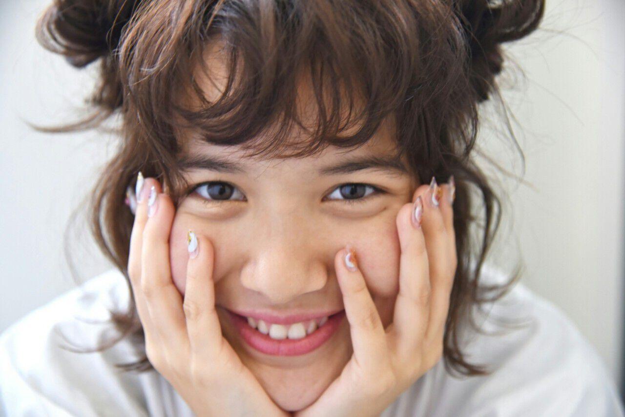 ヘアアレンジ パーマ ハーフアップ 外国人風ヘアスタイルや髪型の写真・画像