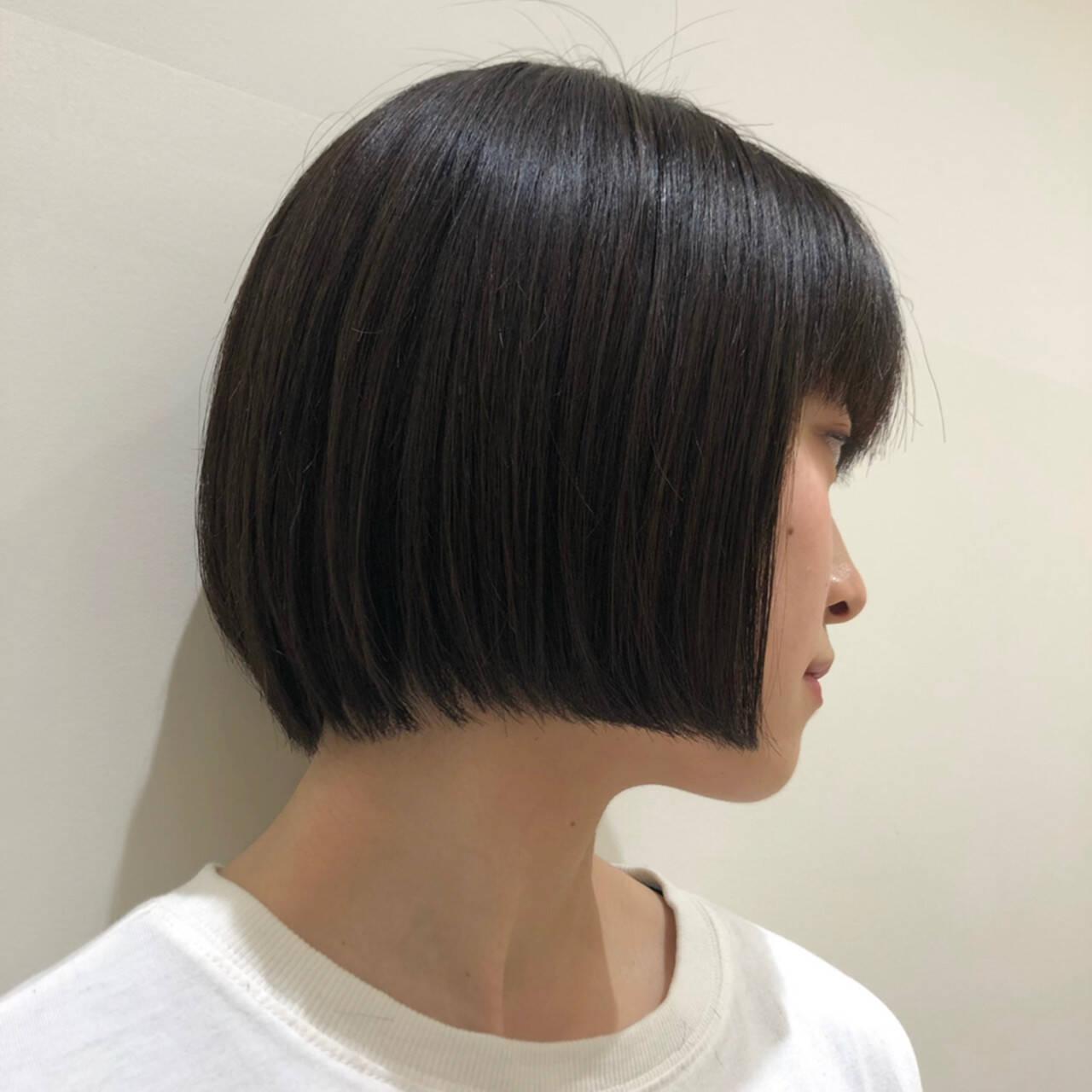 ボブ ショートヘア ミニボブ 小顔ショートヘアスタイルや髪型の写真・画像