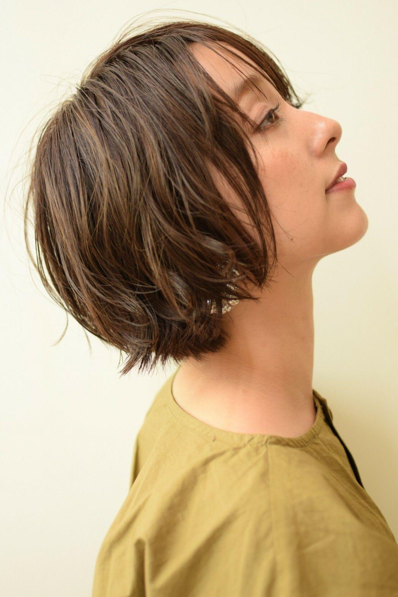 ナチュラル 色気 ショート ハイライトヘアスタイルや髪型の写真・画像