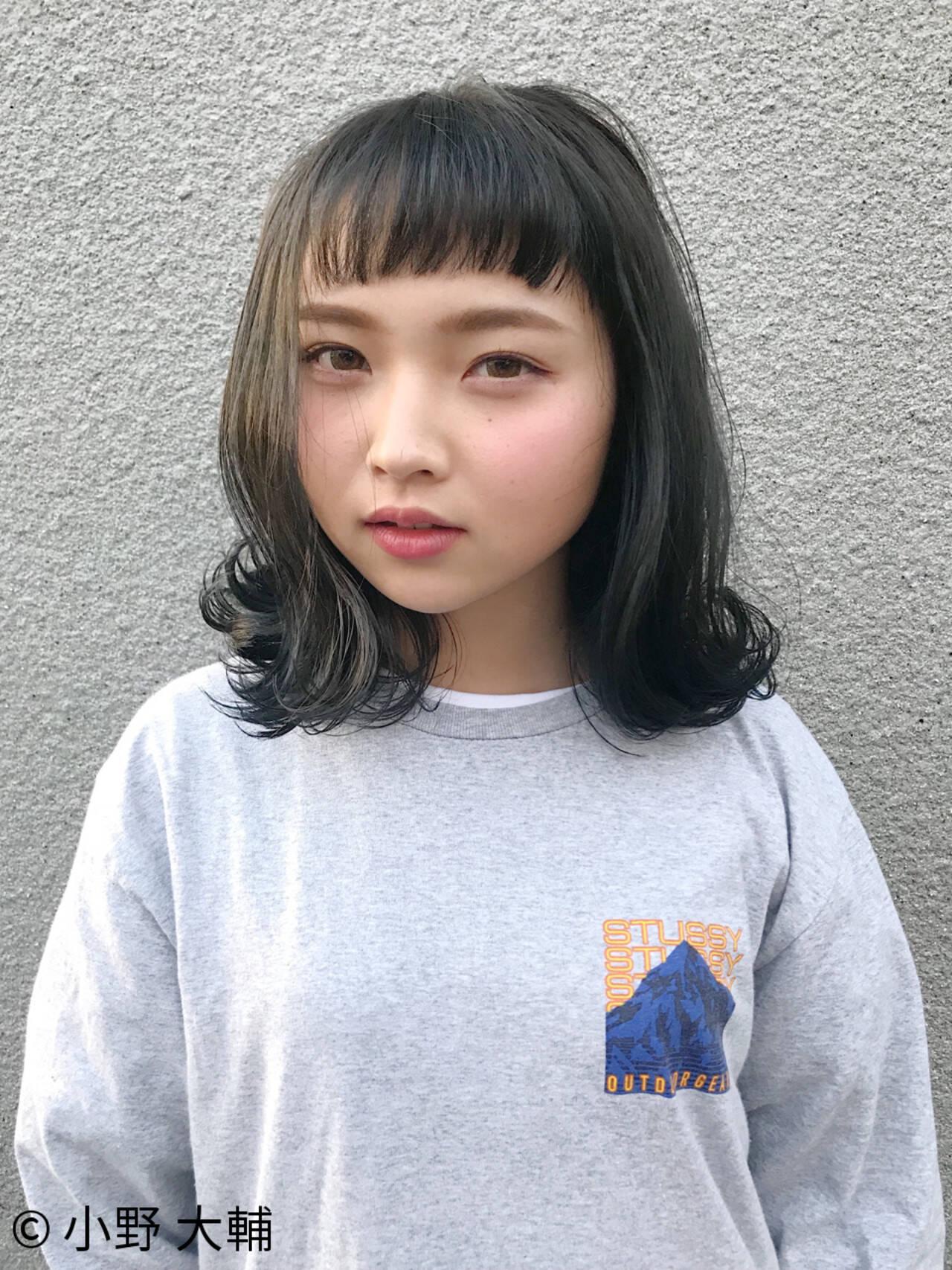 ロブ アッシュ 外国人風カラー ボブヘアスタイルや髪型の写真・画像