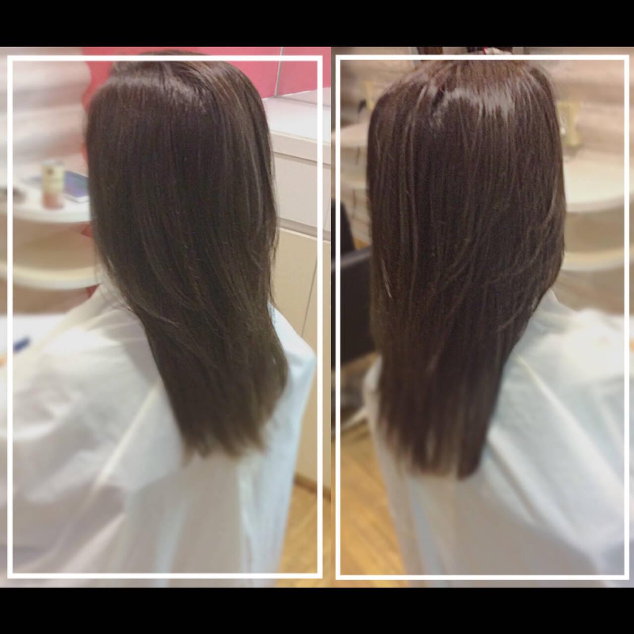 髪質改善 ナチュラル 艶髪 ハイトーンヘアスタイルや髪型の写真・画像