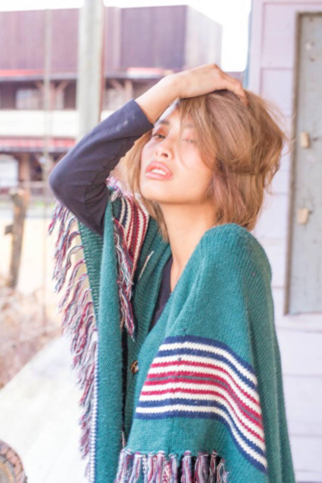 ストリート 外国人風 ショート アッシュヘアスタイルや髪型の写真・画像