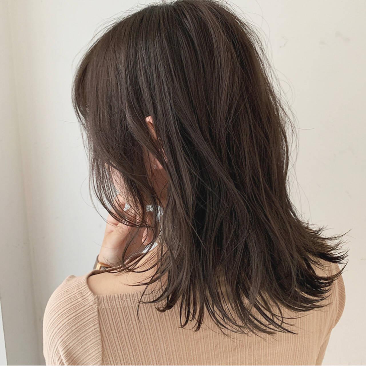 アディクシーカラー アンニュイ ゆるふわセット セミロングヘアスタイルや髪型の写真・画像
