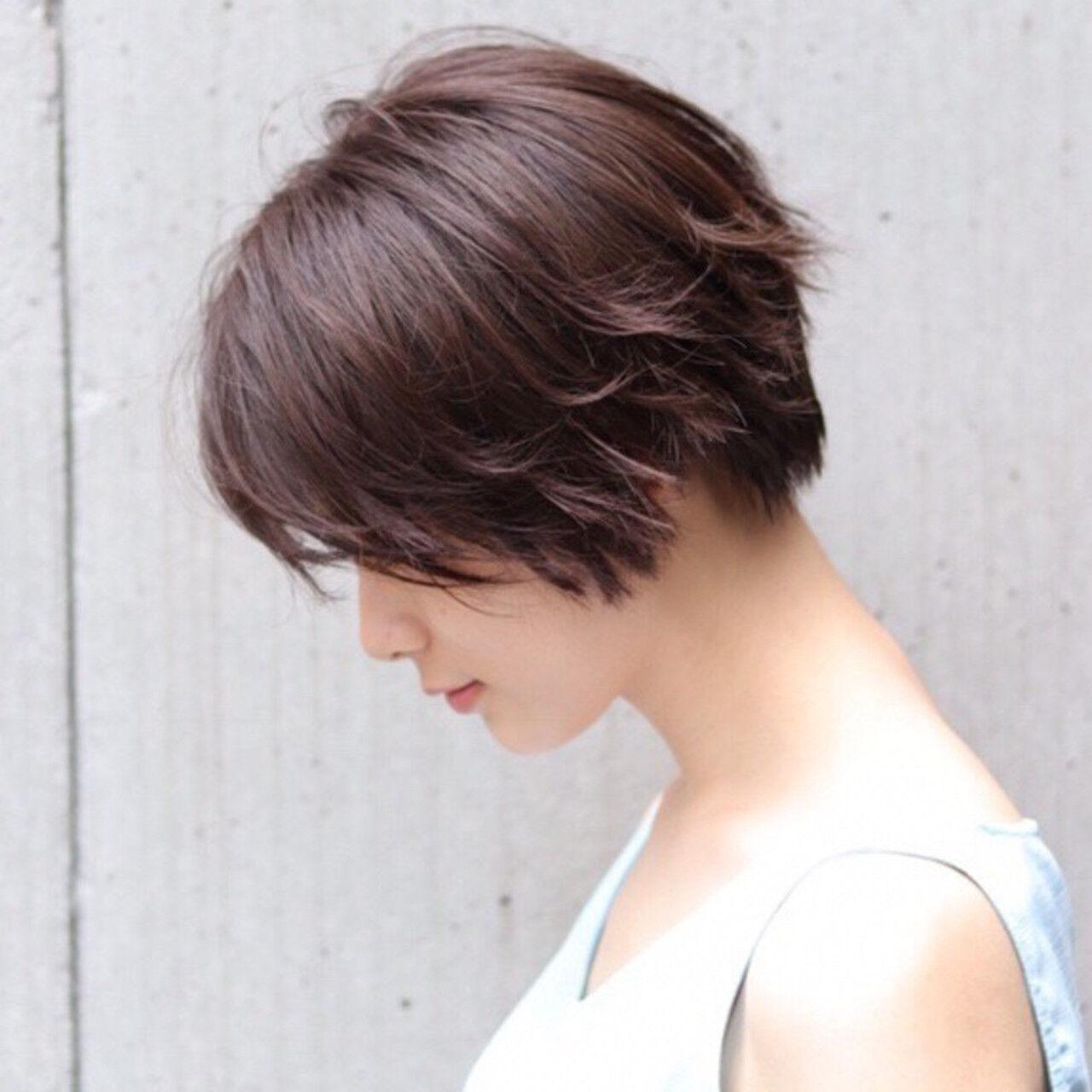 アンニュイほつれヘア デート ショートヘア ナチュラルヘアスタイルや髪型の写真・画像