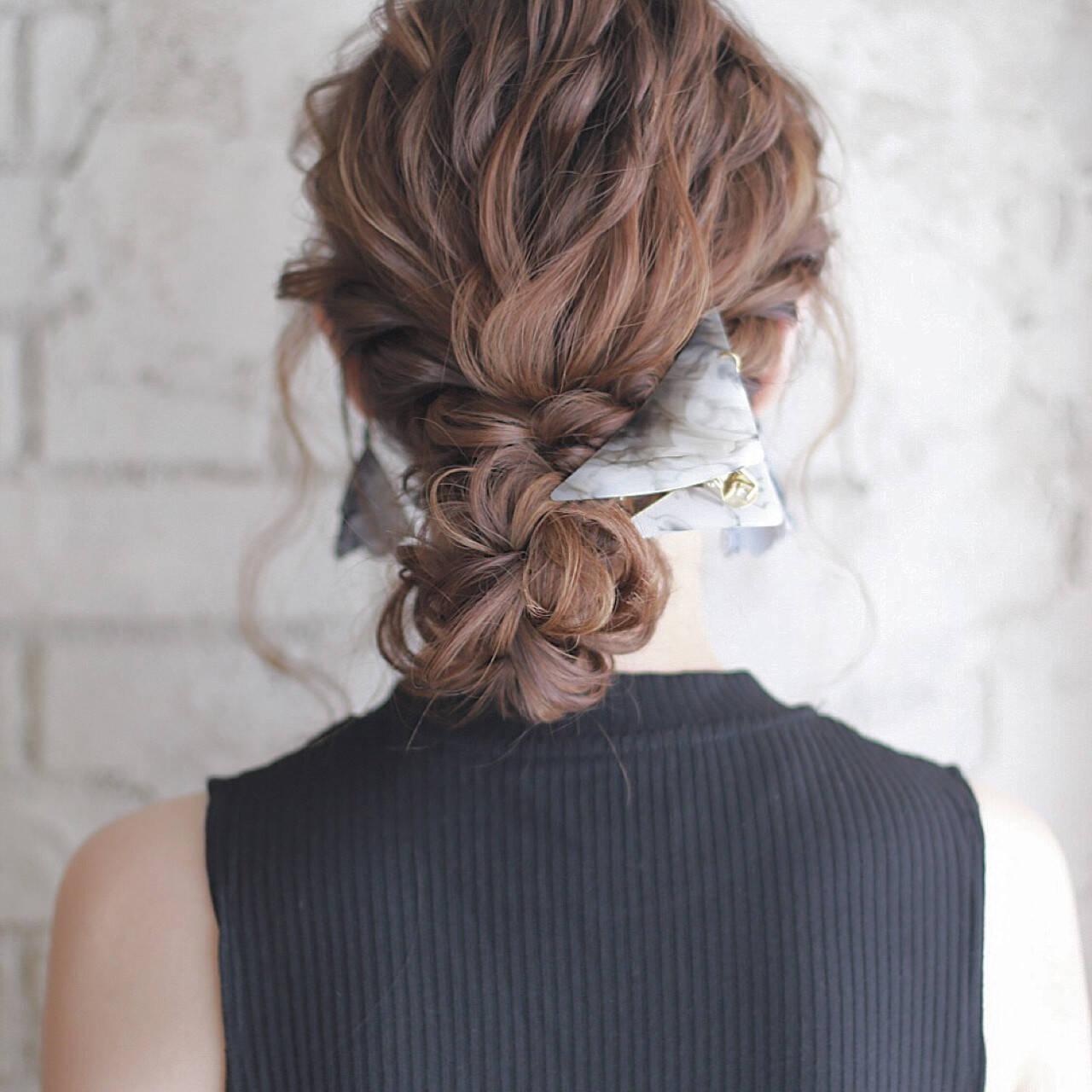 フェミニン 大人かわいい ショート セミロングヘアスタイルや髪型の写真・画像