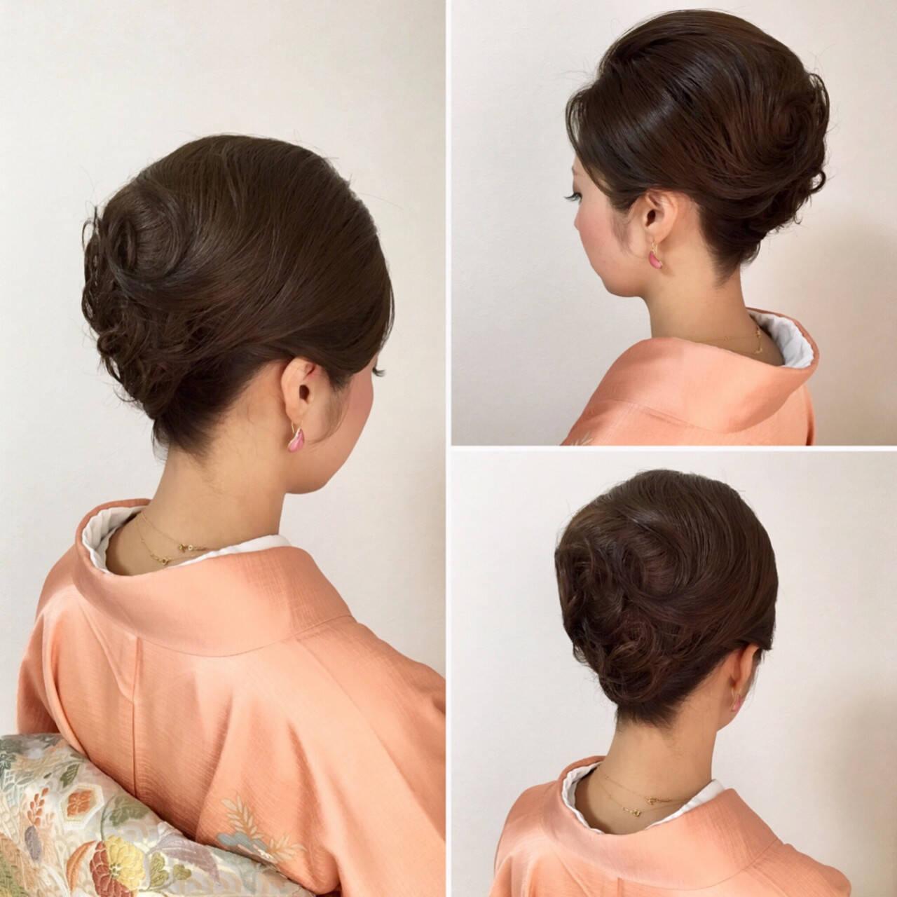アップスタイル ヘアアレンジ エレガント 上品ヘアスタイルや髪型の写真・画像