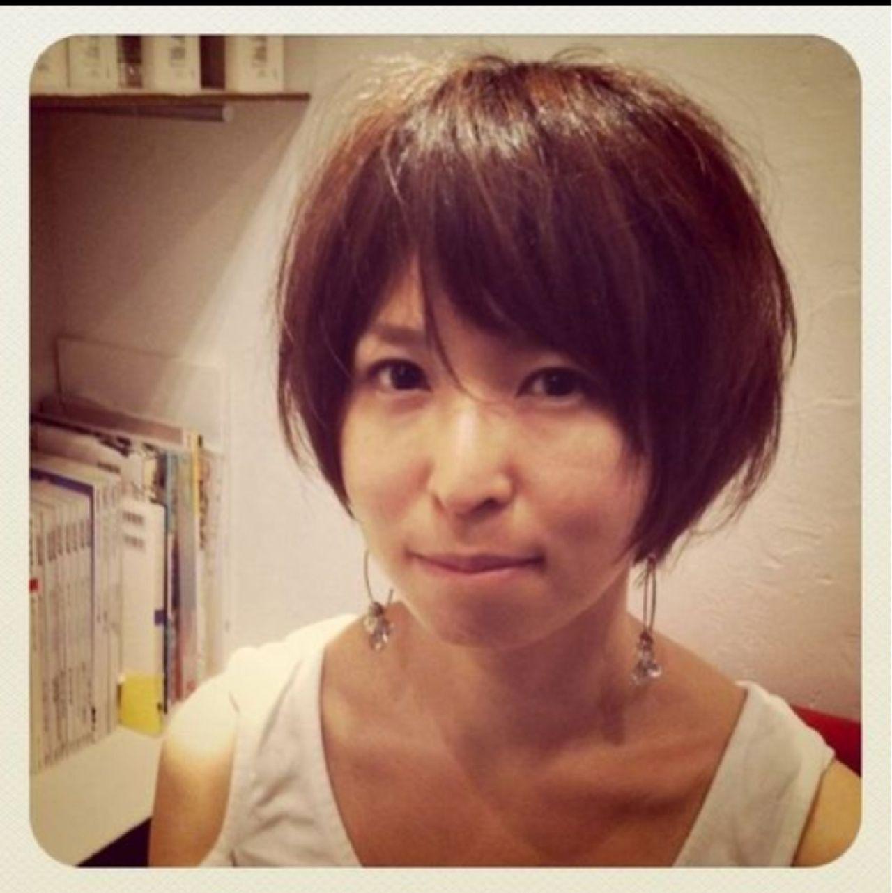 ナチュラル ショート 田中美保 外国人風ヘアスタイルや髪型の写真・画像