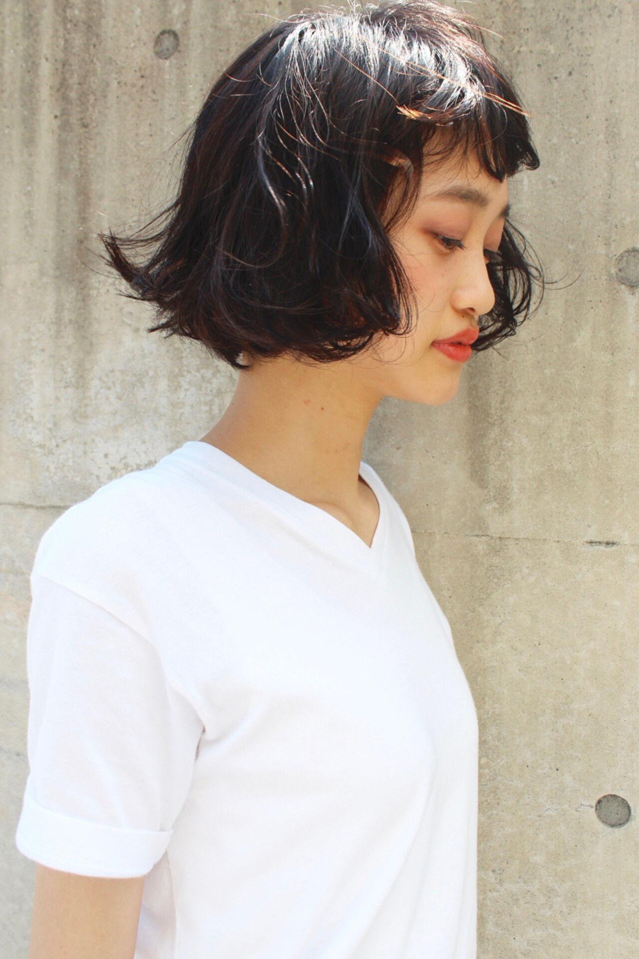 ピュア 前髪あり モード 外国人風ヘアスタイルや髪型の写真・画像
