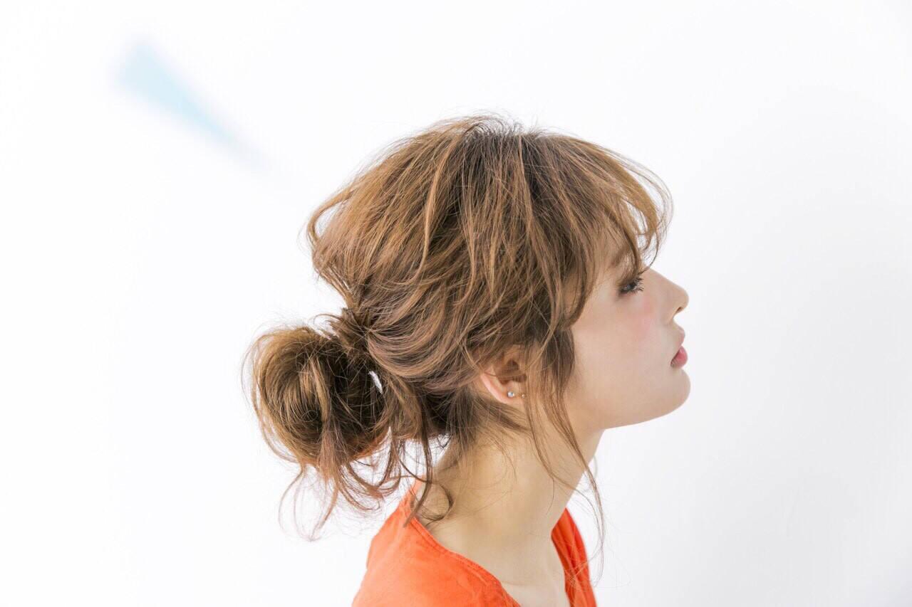 簡単ヘアアレンジ フェミニン ヘアアレンジ ショートヘアスタイルや髪型の写真・画像