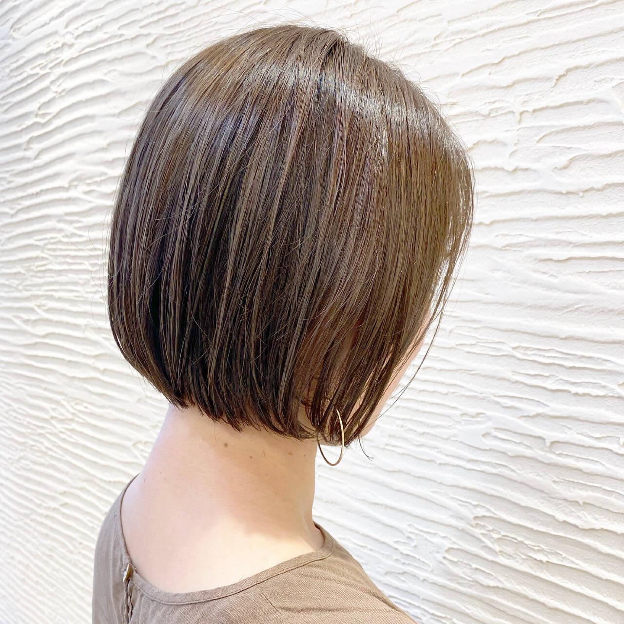 ミニボブ まとまるボブ ボブ ナチュラルヘアスタイルや髪型の写真・画像