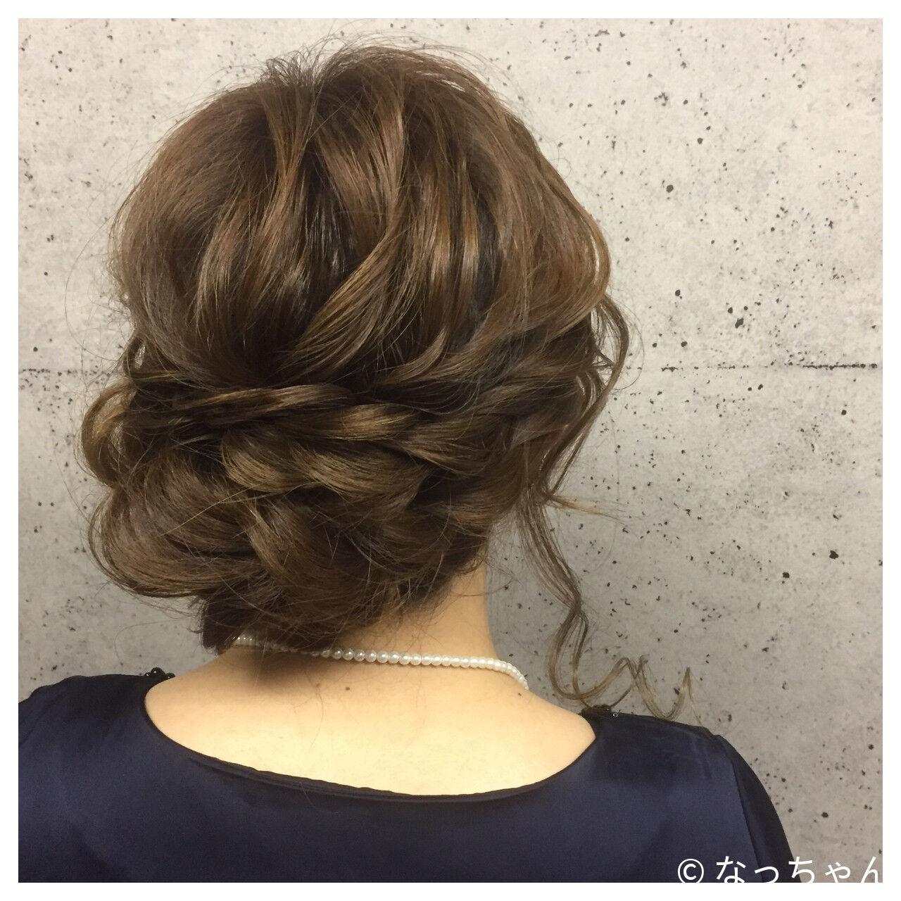 ナチュラル 結婚式 ブライダル アップスタイルヘアスタイルや髪型の写真・画像