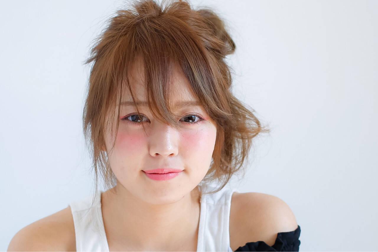 ハーフアップ ショート ヘアアレンジ ピュアヘアスタイルや髪型の写真・画像