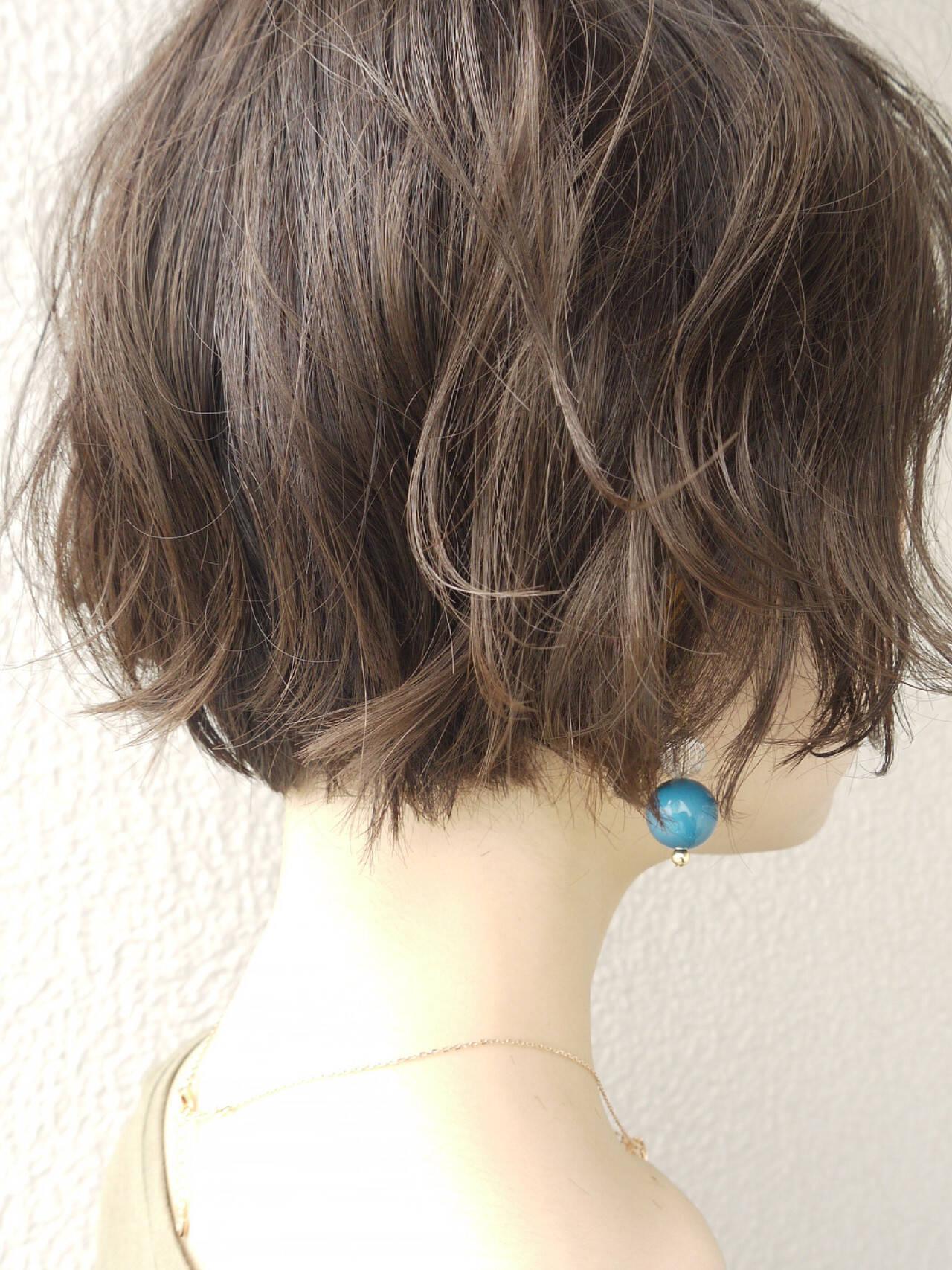 ナチュラル パーマ ゆるふわパーマ 大人かわいいヘアスタイルや髪型の写真・画像