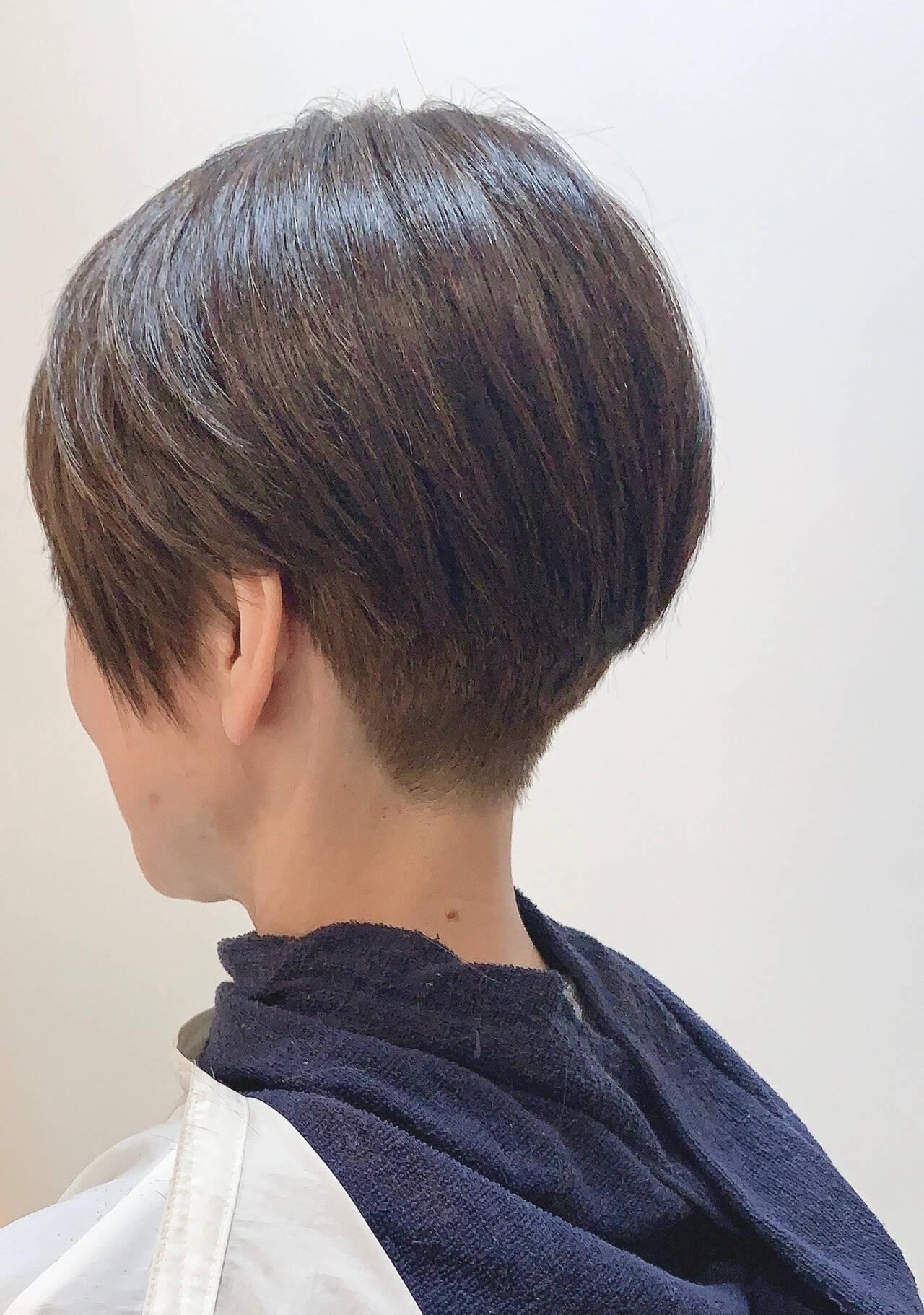 ショートヘア ベリーショート ショート ショートボブヘアスタイルや髪型の写真・画像