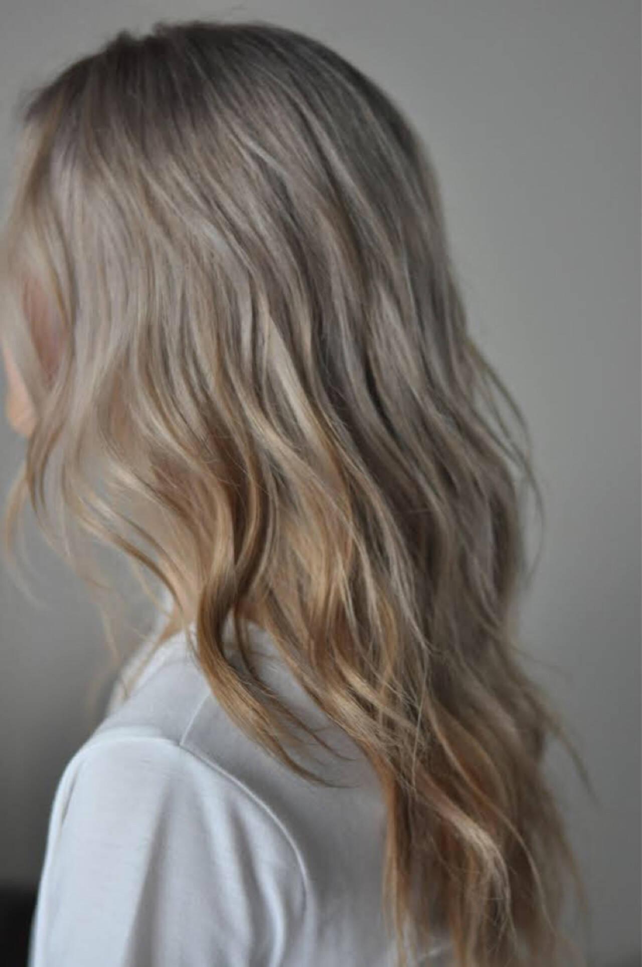 ガーリー アウトドア ハイライト 外国人風カラーヘアスタイルや髪型の写真・画像