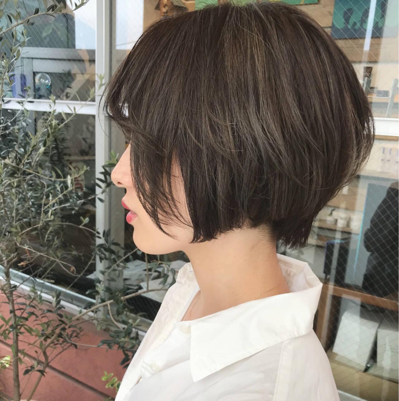 似合わせ ショートボブ 女子力 ショートヘアスタイルや髪型の写真・画像