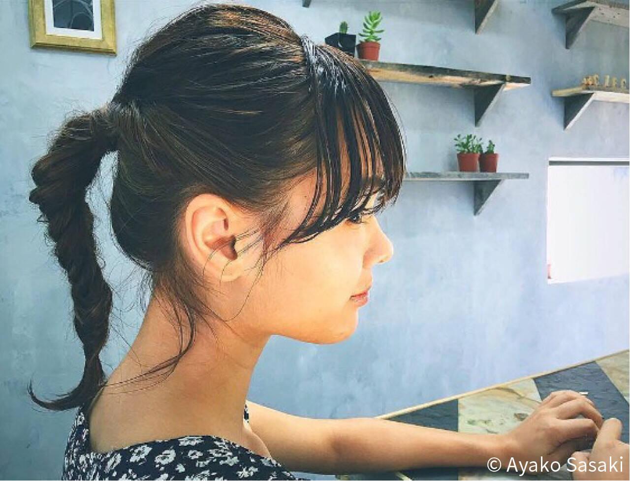 外国人風 ショート ミディアム ヘアアレンジヘアスタイルや髪型の写真・画像