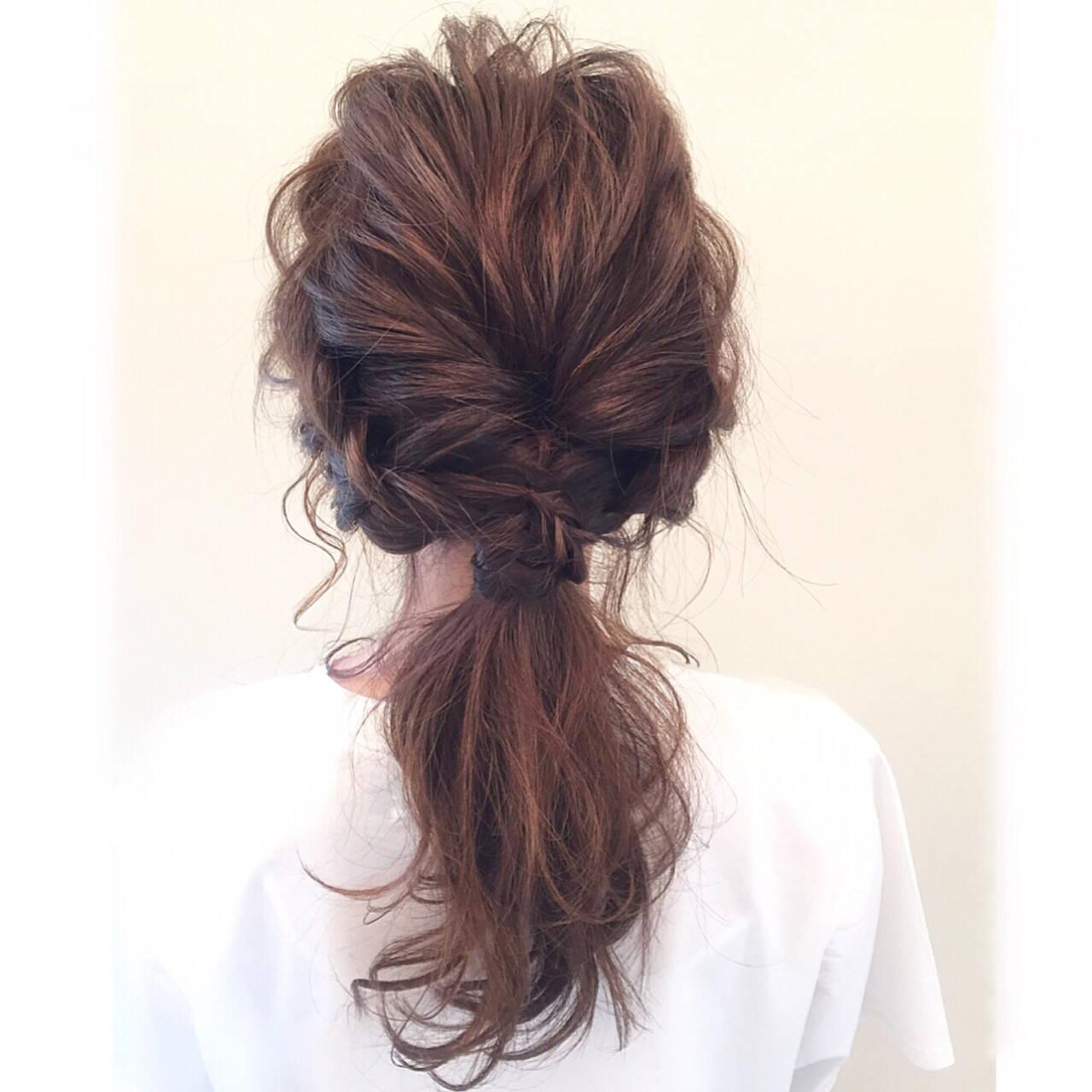 大人女子 ハーフアップ ヘアアレンジ 簡単ヘアアレンジヘアスタイルや髪型の写真・画像