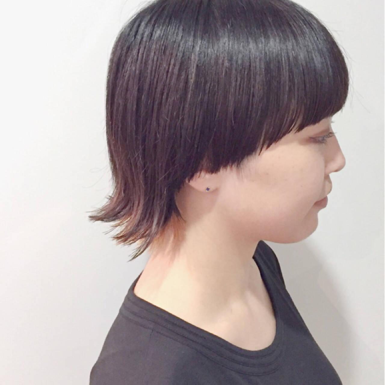 ショートボブ ショート ウルフカット マッシュヘアスタイルや髪型の写真・画像
