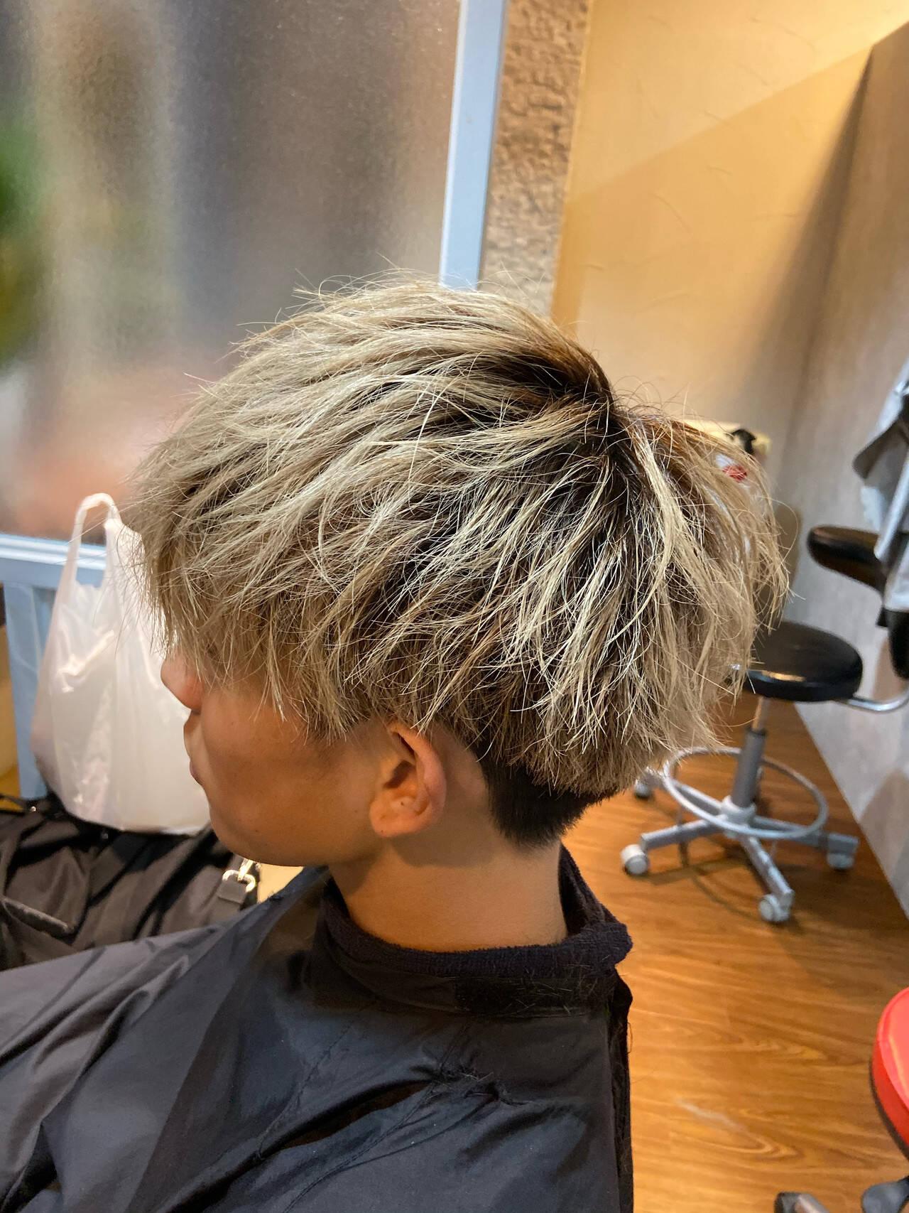 メンズ メンズカット ショート メンズマッシュヘアスタイルや髪型の写真・画像