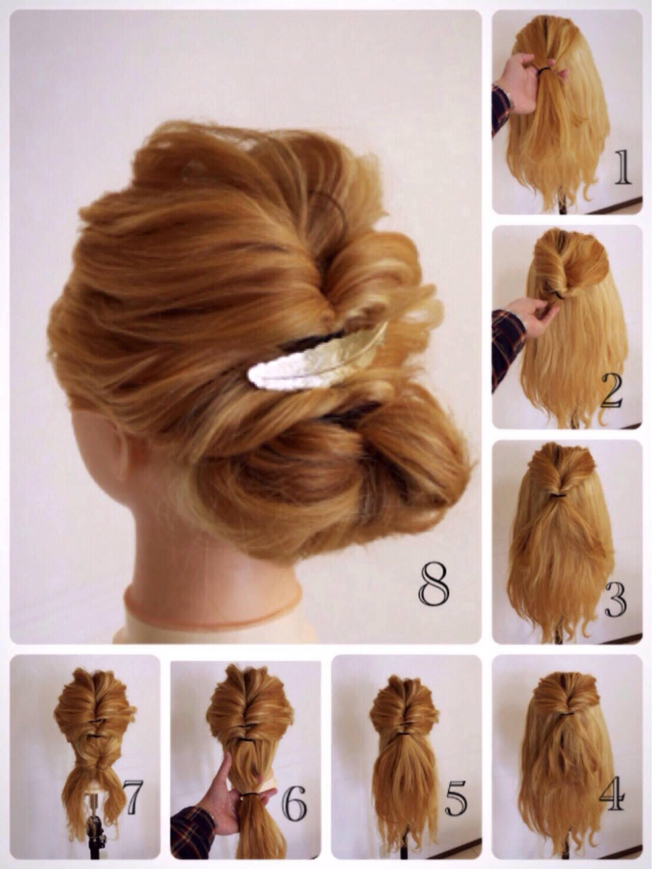 ヘアアレンジ 簡単ヘアアレンジ 外国人風 ショートヘアスタイルや髪型の写真・画像