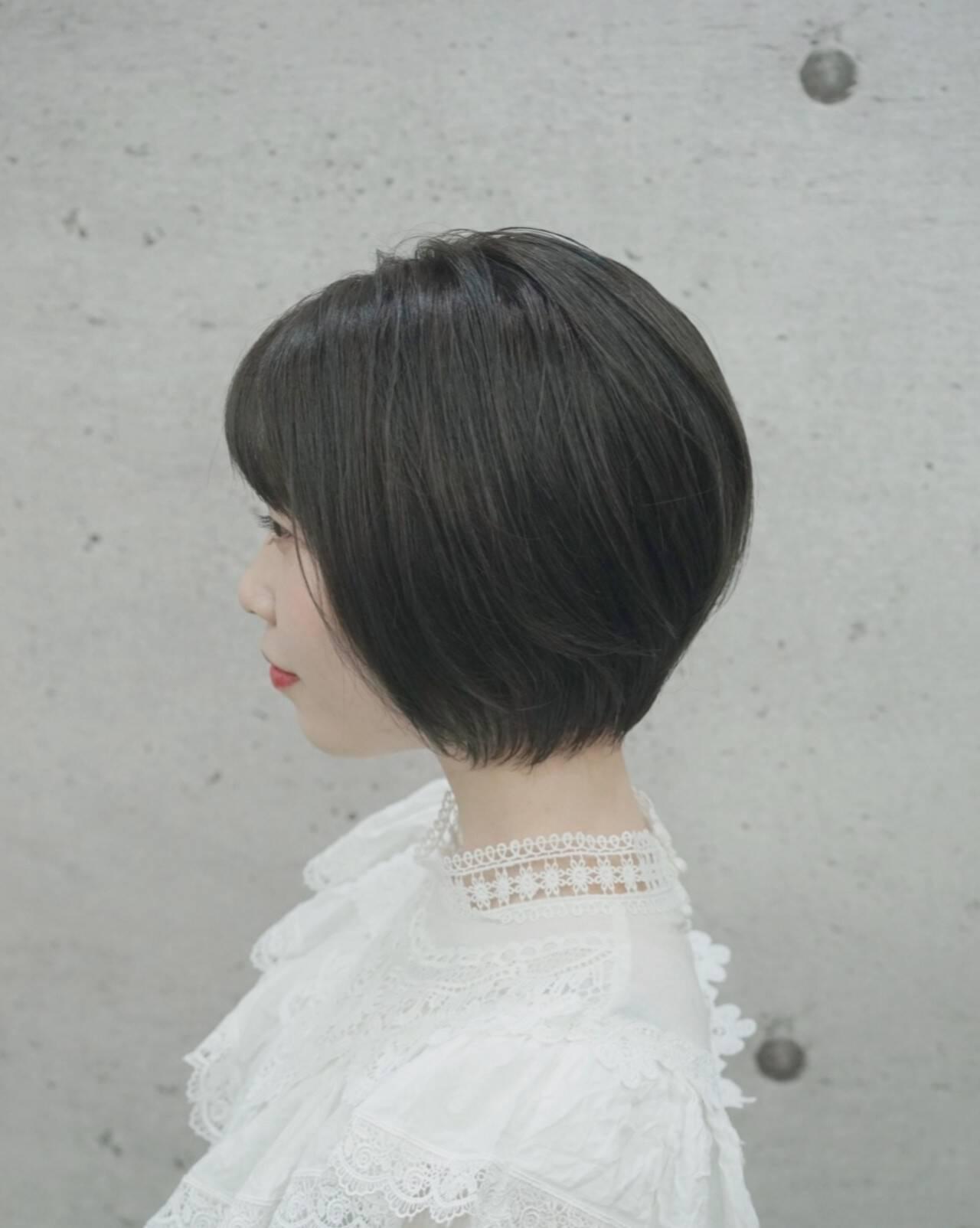 女子力 ナチュラル ショートヘア ベリーショートヘアスタイルや髪型の写真・画像