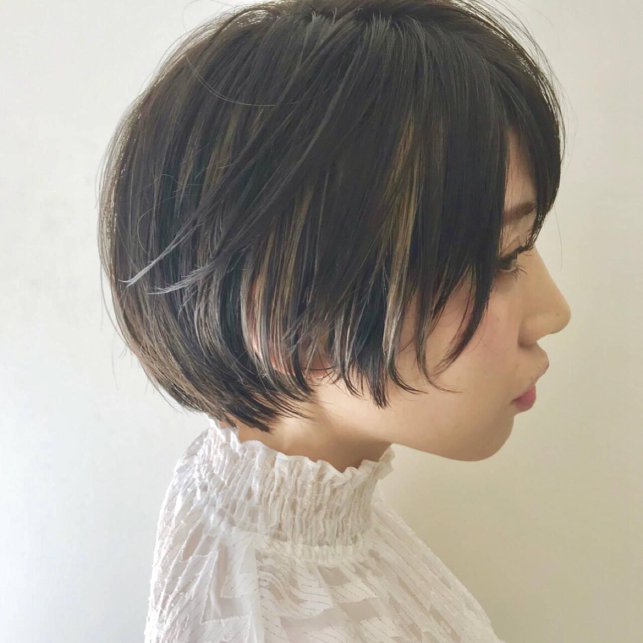 黒髪 ナチュラル こなれ感 小顔ヘアスタイルや髪型の写真・画像