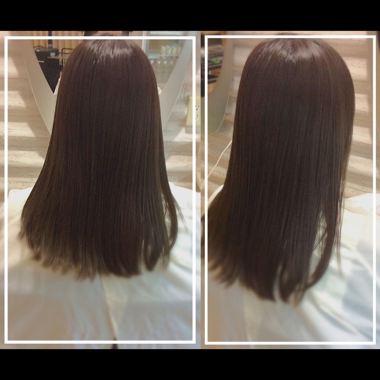 髪質改善トリートメント 白髪染め 艶髪 ナチュラルヘアスタイルや髪型の写真・画像