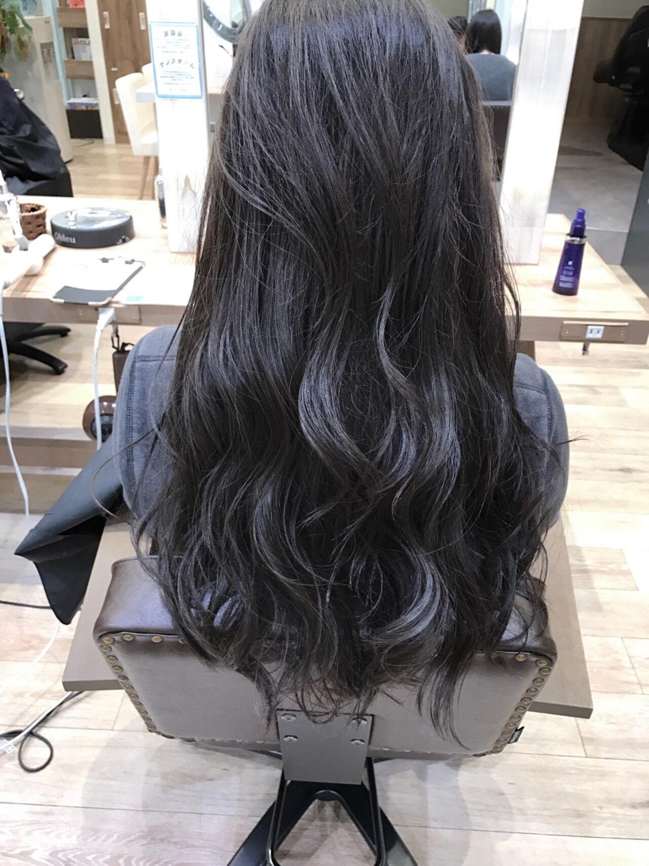 ストリート 暗髪 ロング 大人かわいいヘアスタイルや髪型の写真・画像
