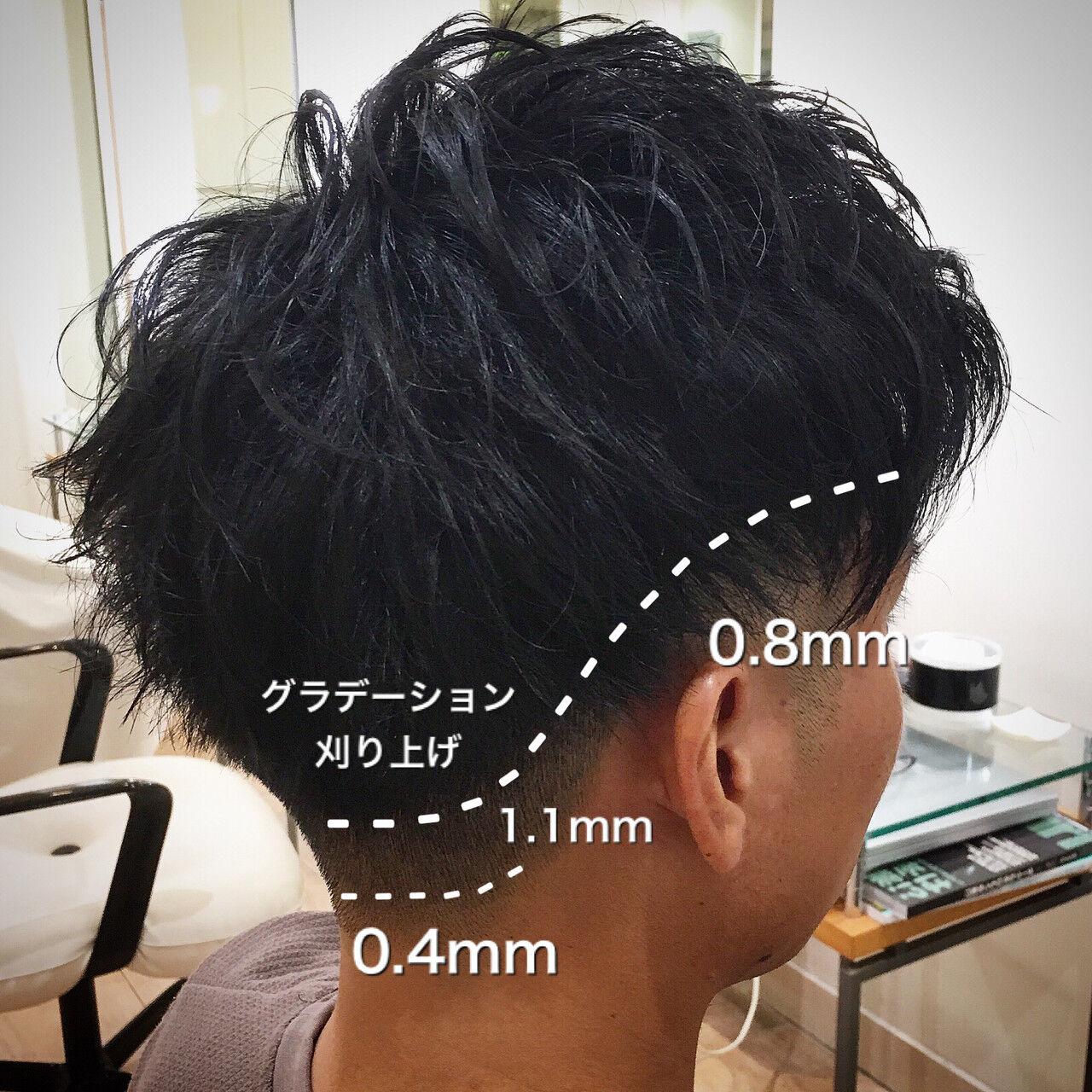 ショート ツーブロック メンズ フェードカットヘアスタイルや髪型の写真・画像
