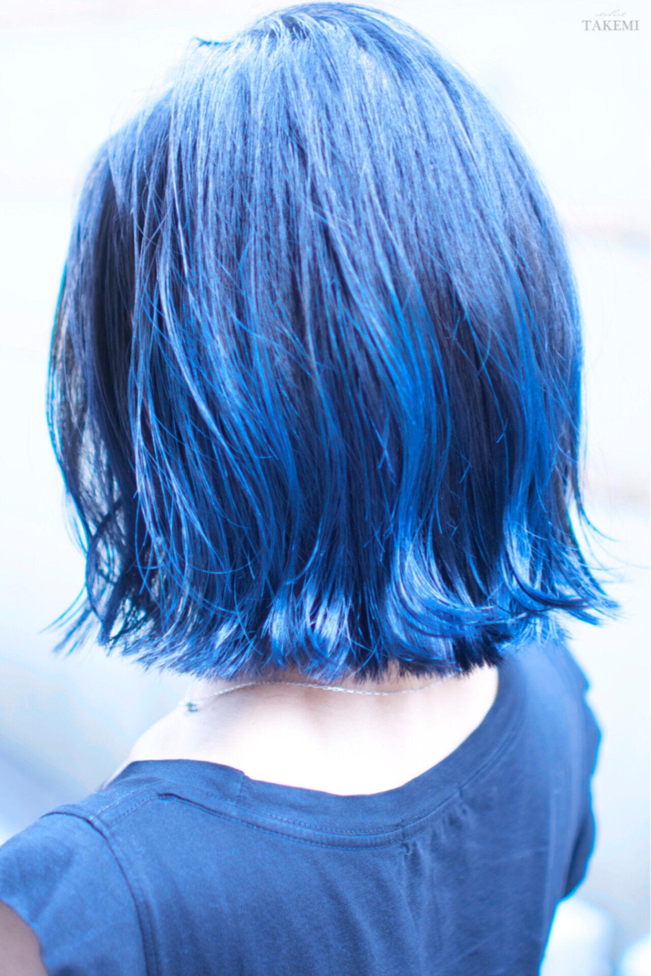 ボブ ハイライト ダブルカラー 外国人風カラーヘアスタイルや髪型の写真・画像