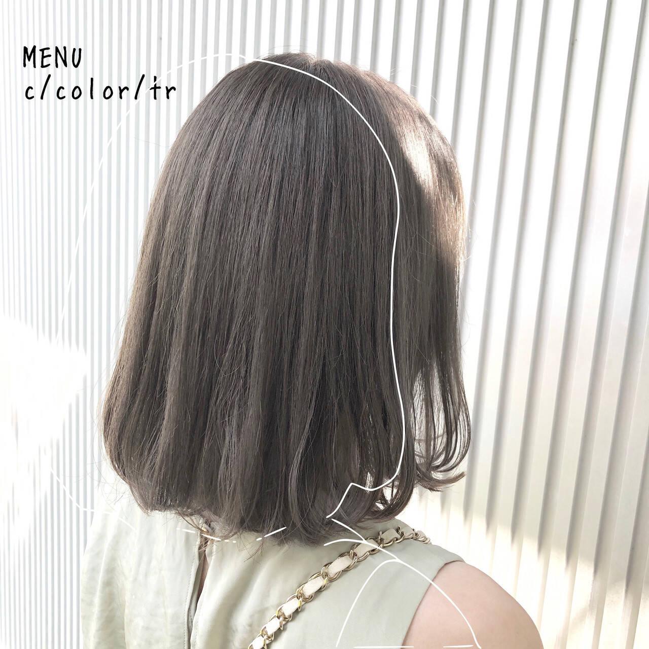 髪質改善 ストレート 前髪 縮毛矯正ヘアスタイルや髪型の写真・画像