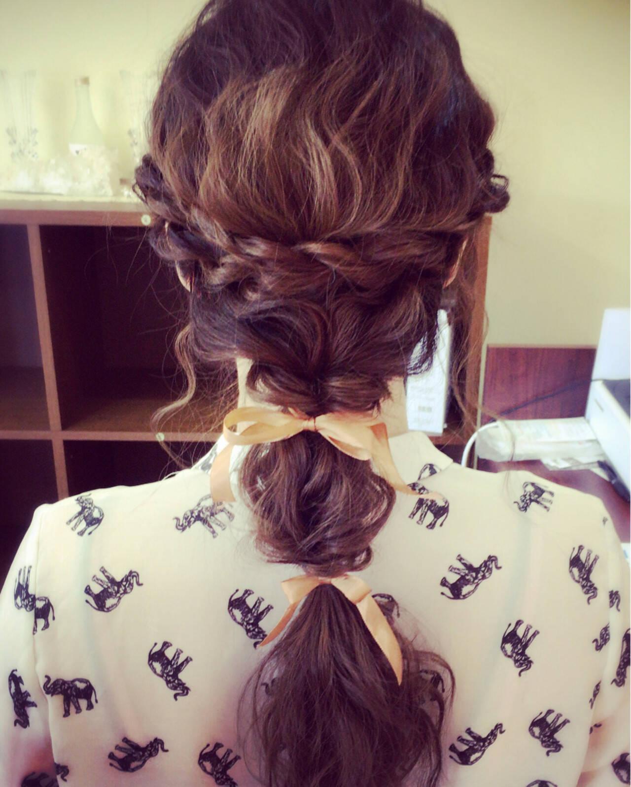 波ウェーブ 結婚式 ヘアアレンジ ロングヘアスタイルや髪型の写真・画像