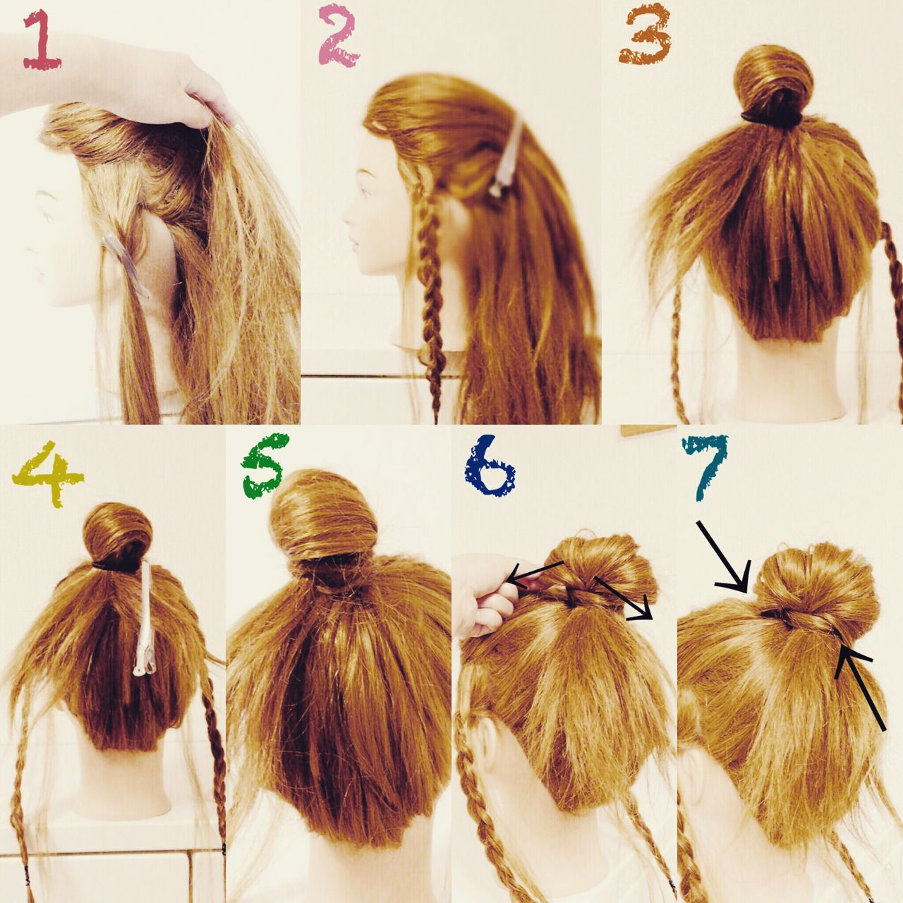 ヘアアレンジ 三つ編み セミロング ショートヘアスタイルや髪型の写真・画像