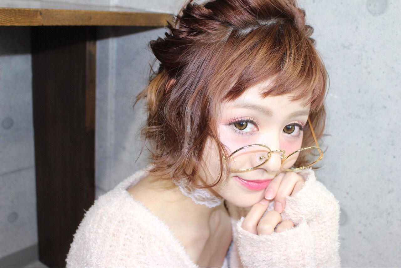 結婚式 デート ヘアアレンジ 簡単ヘアアレンジヘアスタイルや髪型の写真・画像