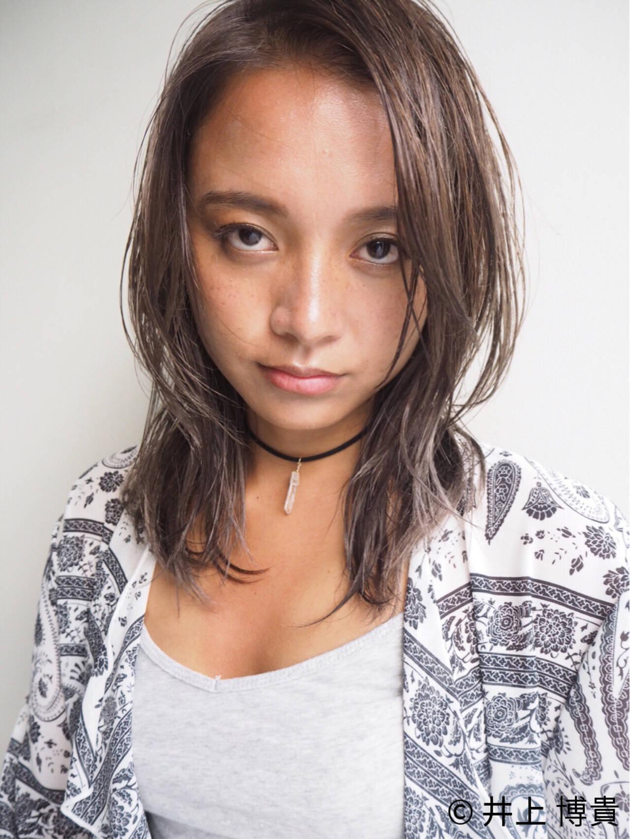 外国人風 プラチナムカラー 外国人風カラー 艶髪ヘアスタイルや髪型の写真・画像