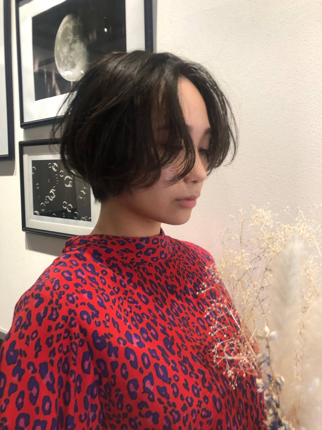 ショート ショートボブ ナチュラル ハンサムショートヘアスタイルや髪型の写真・画像
