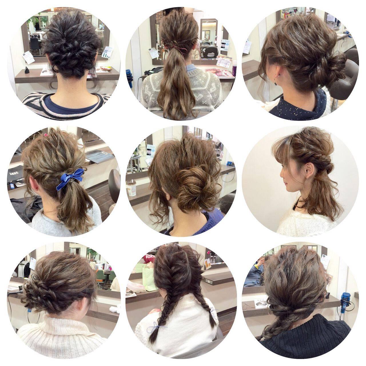 コンサバ ルーズ 編み込み 簡単ヘアアレンジヘアスタイルや髪型の写真・画像