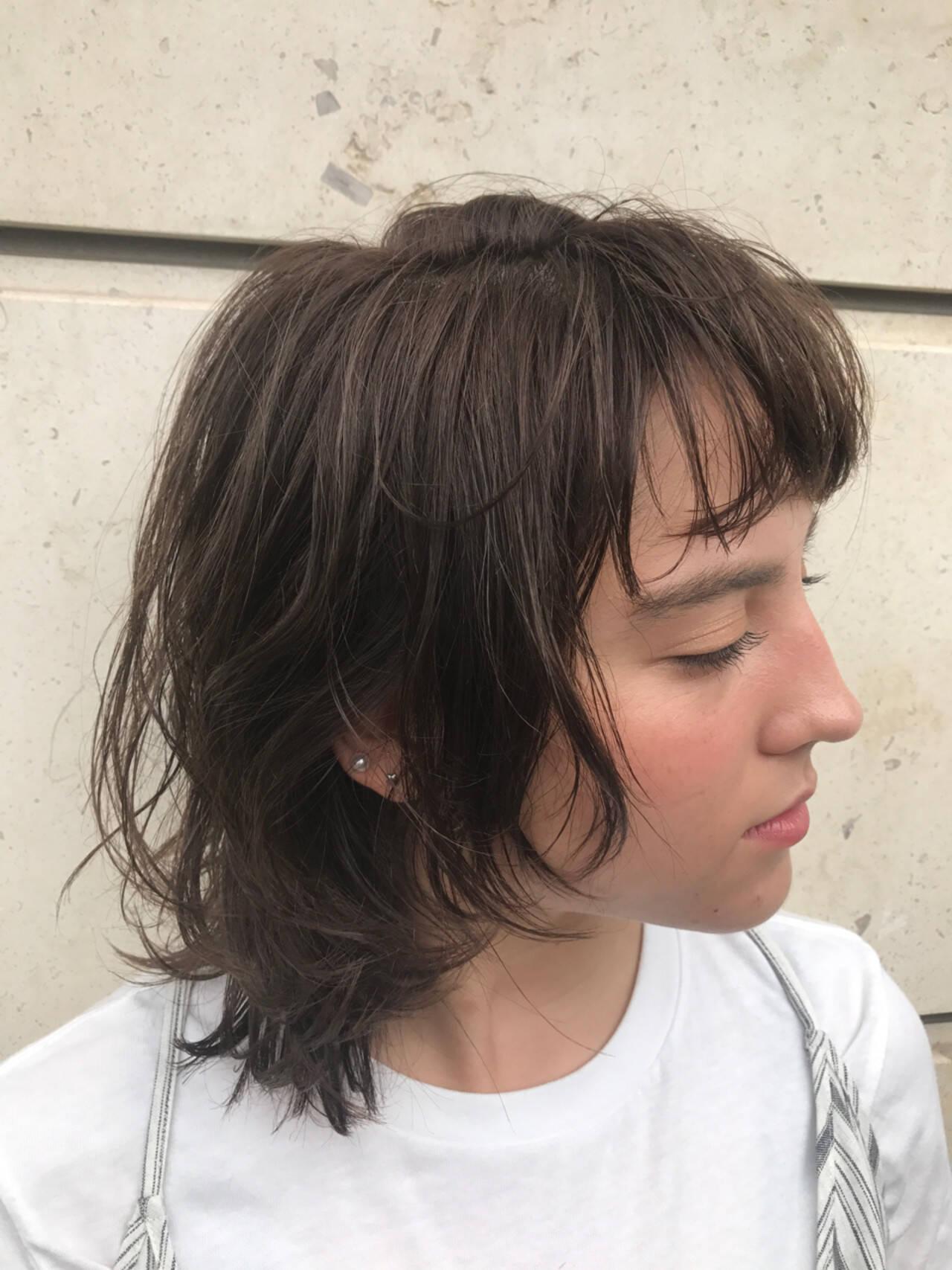 抜け感 リラックス ミディアム 大人かわいいヘアスタイルや髪型の写真・画像