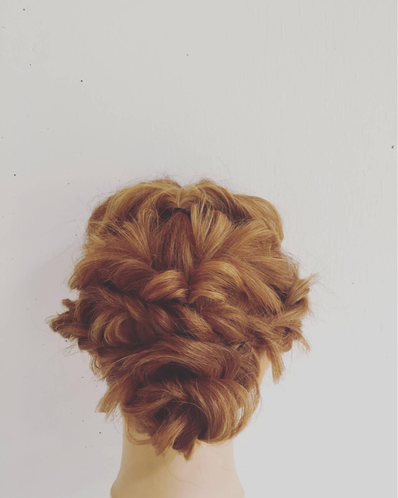ミディアム 大人かわいい ヘアアレンジ フェミニンヘアスタイルや髪型の写真・画像