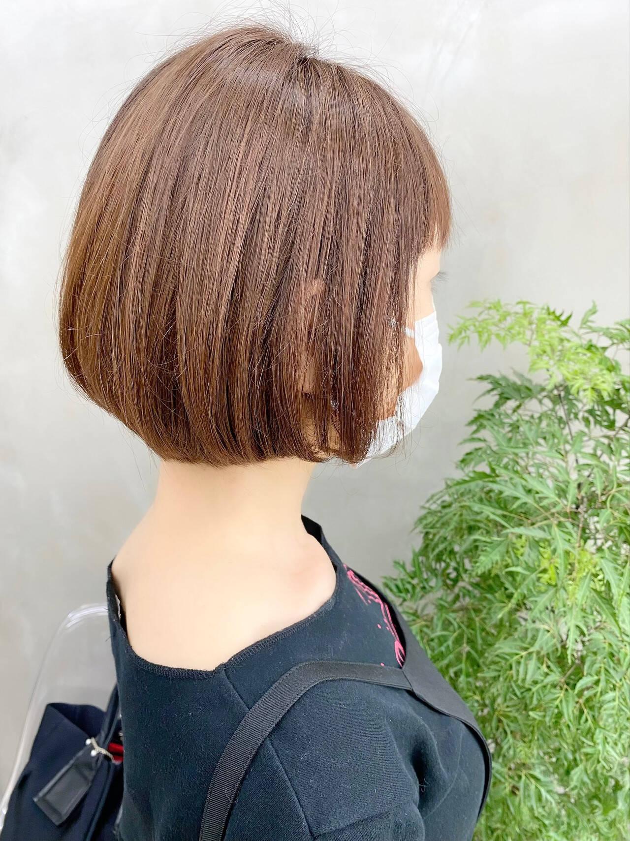 ベリーショート ナチュラル ゆるふわ オフィスヘアスタイルや髪型の写真・画像