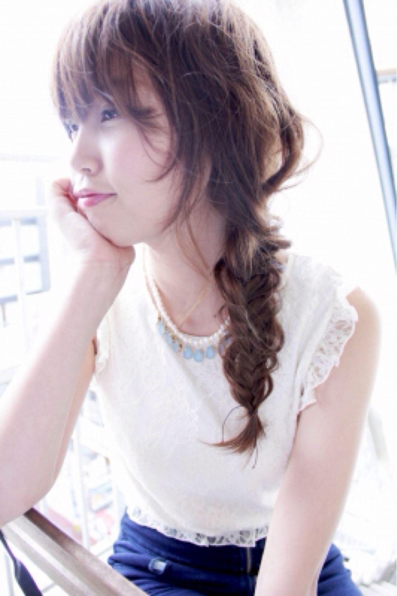 ヘアアレンジ 愛され モテ髪 ナチュラルヘアスタイルや髪型の写真・画像