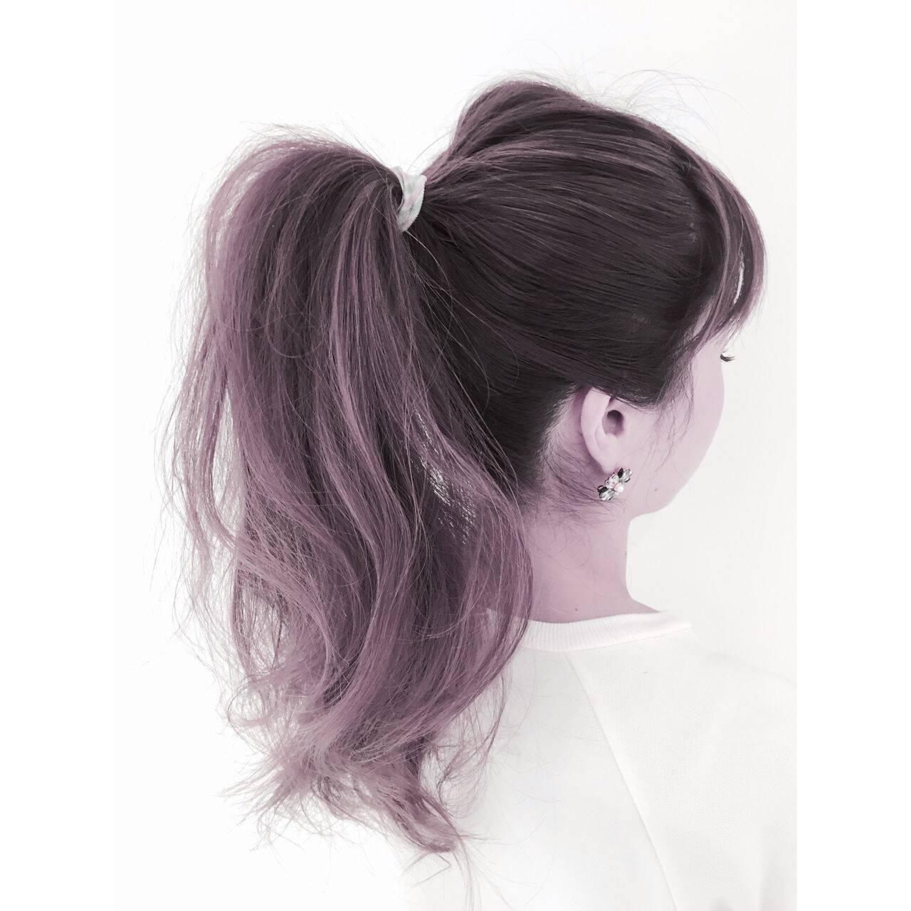 春 ポニーテール ガーリーヘアスタイルや髪型の写真・画像
