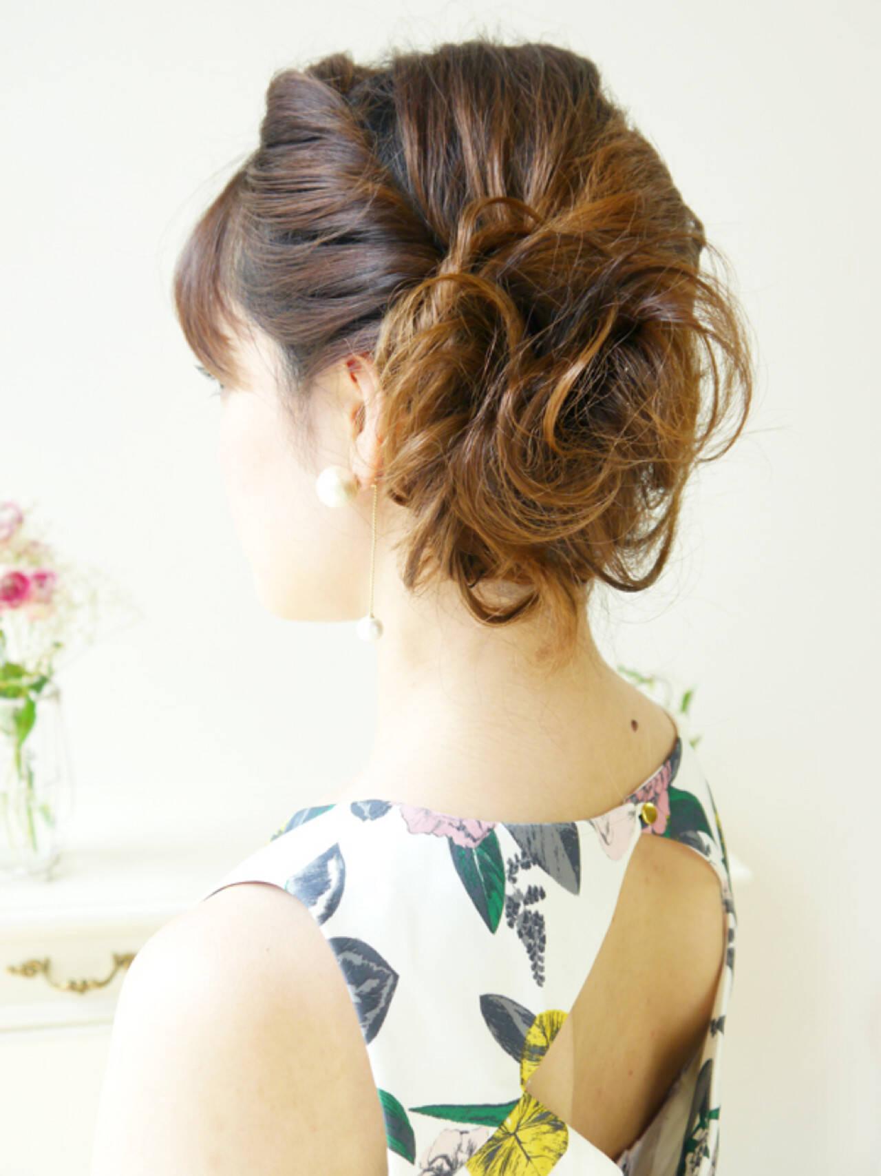 ヘアアレンジ セミロング 大人かわいい ショートヘアスタイルや髪型の写真・画像