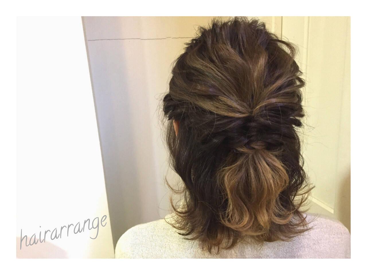 結婚式 ヘアアレンジ 簡単ヘアアレンジ イルミナカラーヘアスタイルや髪型の写真・画像
