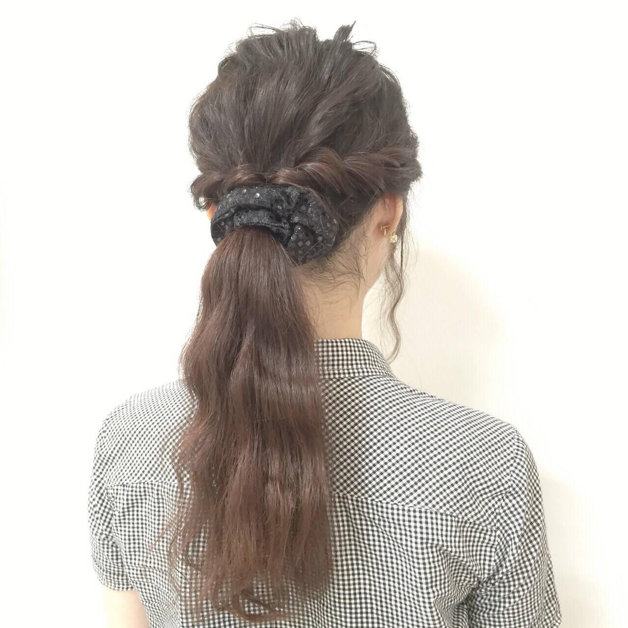 ヘアアレンジ 黒髪 モテ髪 簡単ヘアアレンジヘアスタイルや髪型の写真・画像