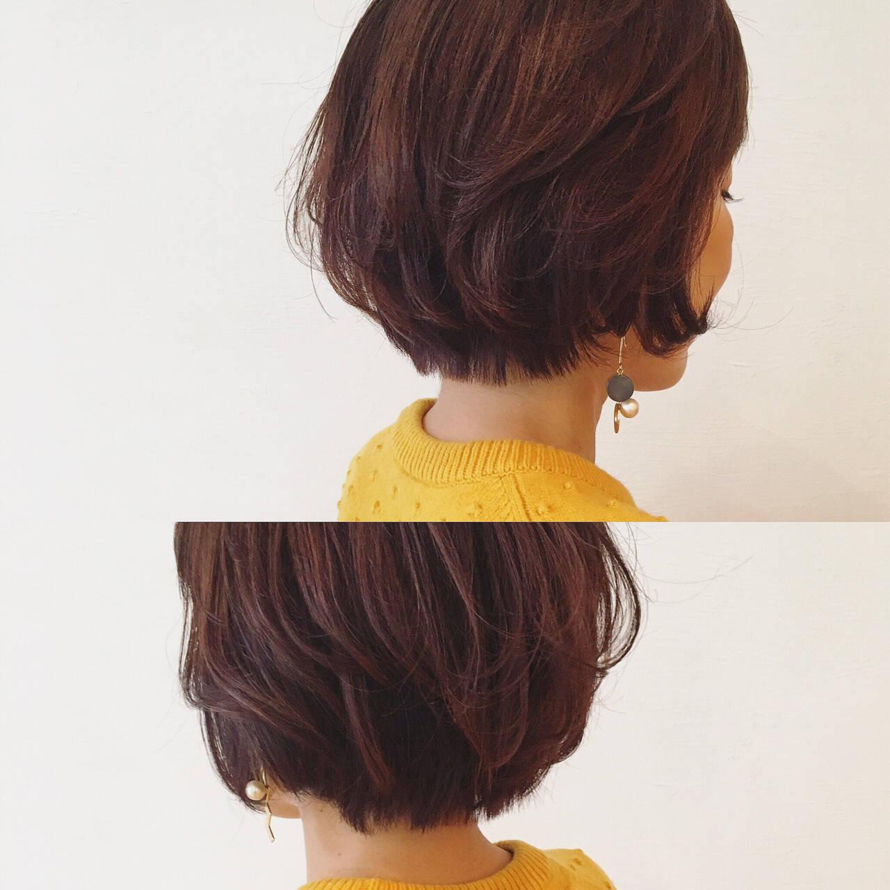 グラデーションカラー コンサバ レッド 外国人風ヘアスタイルや髪型の写真・画像